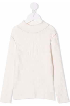 Chloé Piger Strik - Ribstrikket trøje med rullekrave