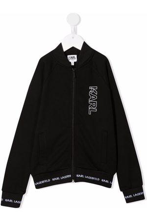 Karl Lagerfeld Drenge Sweatshirts - Hættetrøje med logotryk og lynlås