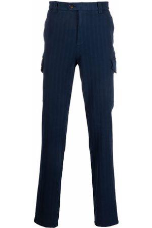Brunello Cucinelli Smalle bukser med lodrette striber