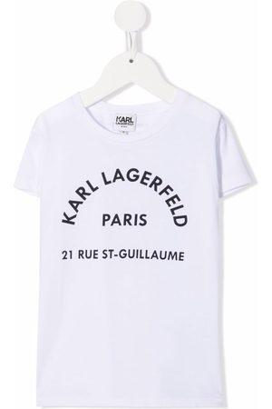 Karl Lagerfeld Kortærmet T-shirt med logotryk