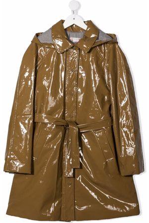 BONPOINT Piger Bælter - Regnfrakke med bælte og stribet for