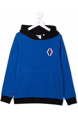 MARCELO BURLON Drenge Sweatshirts - Tofarvet hættetrøje med broderet logo