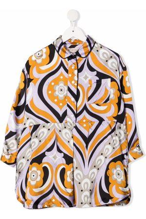 Emilio Pucci Piger Langærmede skjorter - Skjortekjole med abstrakt tryk