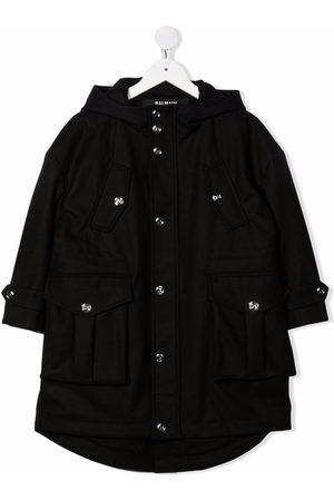 Balmain Kids Regnfrakke med hætte og flere lommer