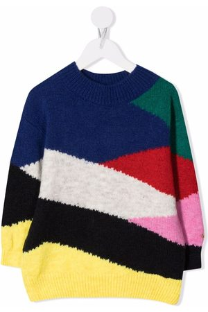 Bobo Choses Piger Strik - Trøje med rund hals og colourblocking