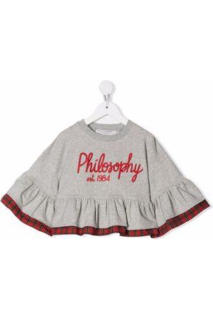 Philosophy Di Lorenzo Serafini Kids Piger Sweatshirts - Sweatshirt med broderet logo