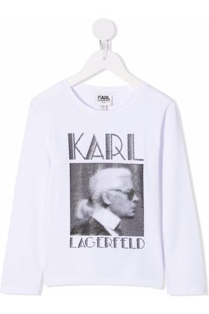 Karl Lagerfeld Kids Drenge Kortærmede - Picture print T-shirt