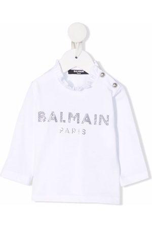 Balmain Kids Baby Langærmede - Langærmet T-shirt med udsmykket logo
