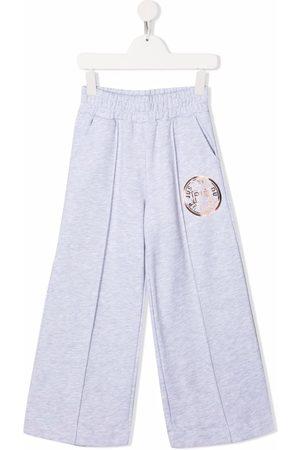 Pinko Kids Piger Joggingbukser - Logo-print jersey sweatpants