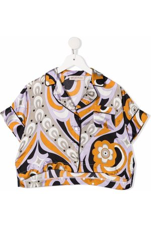 Emilio Pucci Junior Abstract-print short-sleeved shirt