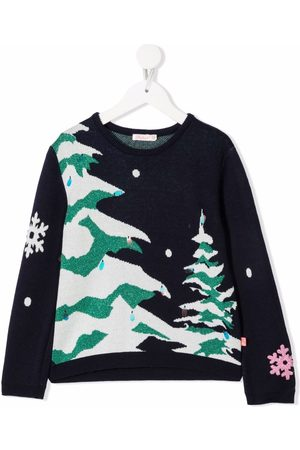 Billieblush Intarsiastrikket Winter trøje