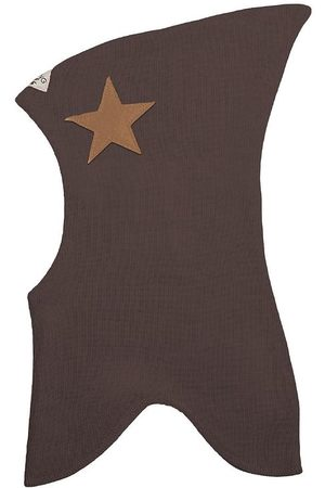 Racing Kids Huer - Elefanthue - Uld/Bomuld - 2-lags - Chocolate Brown m