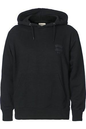 Nudie Jeans Mænd Sweatshirts - Franke Logo Hoodie Black