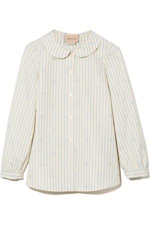 Gucci Kids Piger Langærmede skjorter - Skjorte med knapper og dobbelt G-krave