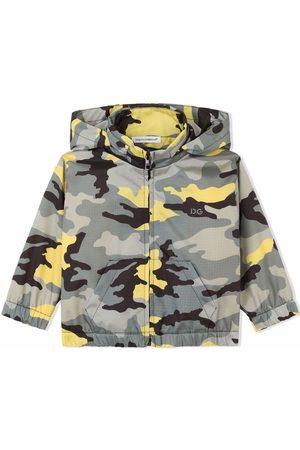 Dolce & Gabbana Baby Frakker - Kamouflagemønstret frakke med hætte