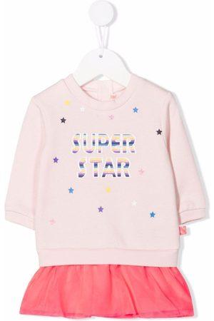 Billieblush Baby Kjoler - Ruffle hem slogan dress