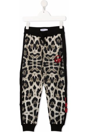 John Richmond Junior Leopard-print track pants