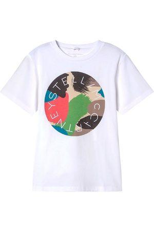 Stella McCartney Kortærmede - T-Shirt - Logo Camouflage - White