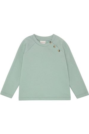 Popirol Sweatshirts - Sweatshirt - Luka - Jade Green m. Knapper