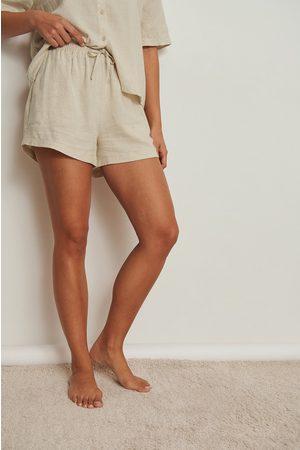 NA-KD Kvinder Pyjamas - Fritidsshorts i lærred