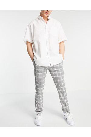 Topman Skinny ternede bukser i grå og hvid
