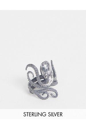 ASOS Ring i sterling med blæksprutte