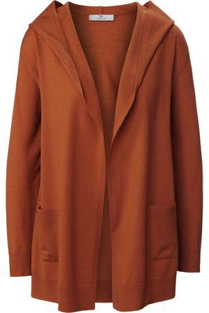 Peter Hahn Kvinder Cardigans - Cardigan i 100% ren ny uld Fra PURE EDITION orange