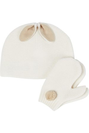Il gufo Babysæt - Baby set of virgin wool beanie and gloves