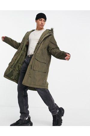 ASOS Mænd Parkajakker - Parka-jakke med hættekant i imiteret pels