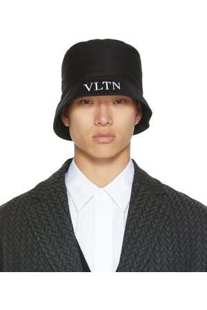 VALENTINO GARAVANI Mænd Hatte - Black 'VLTN' Bucket Hat