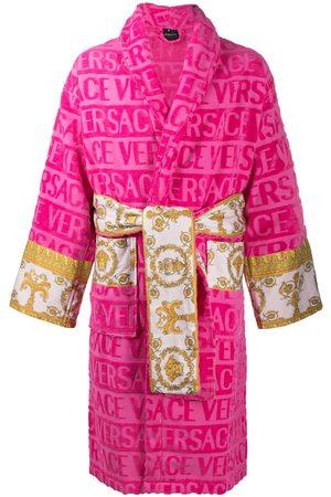 Versace Badekåber - Devoré kåbe med barok-panel og logo