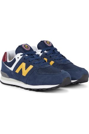 New Balance Kids 574 suede sneakers