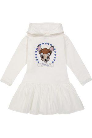 Monnalisa Embellished stretch-cotton dress