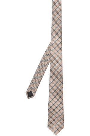 Burberry Mænd Slips - Microcheck slips i jacquard