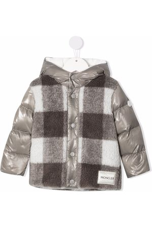 Moncler Enfant Baby Vinterfrakker - Dunfrakke med gingham-paneler