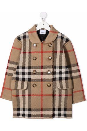 Burberry Dobbeltradet vintage-ternet frakke