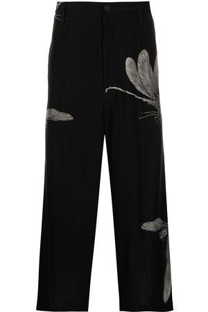 YOHJI YAMAMOTO Bukser med bladtryk