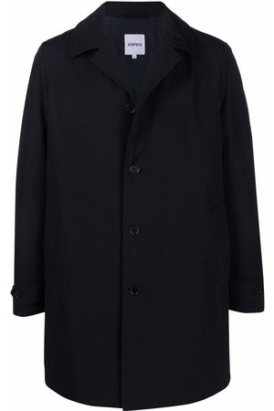 Aspesi Single-breasted cotton-blend coat