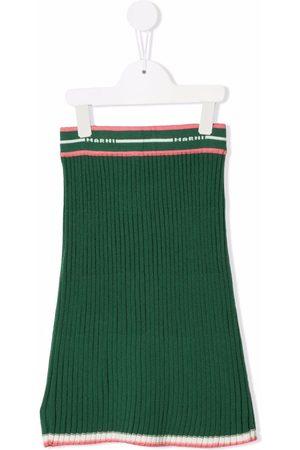 Marni Rib-knit logo skirt