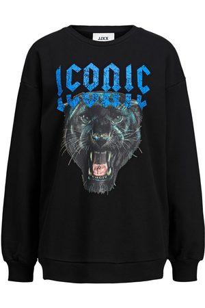 """jack & jones Jxsavage Loose Sweatshirt Kvinder Black"""",""""Brown"""