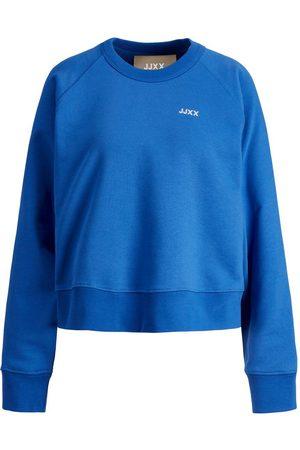 """JACK & JONES Mænd Sweatshirts - Jxcaitlyn Økologisk Bomuld Sweatshirt Kvinder Blue"""",""""Brown"""