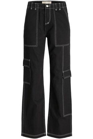 """JACK & JONES Jxoctavia Worker Loose Fit Jeans Kvinder Black"""",""""Brown"""