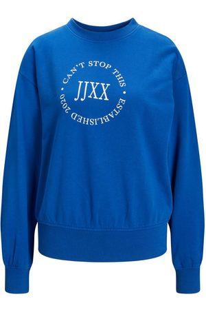 "JACK & JONES Mænd Sweatshirts - Jxbeatrice Logo Sweatshirt Kvinder Blue"",""Brown"