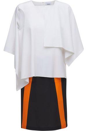 BURBERRY Silk Jersey Knee Length Dress