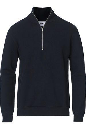 NN.07 Luis Cotton/Modal Half Zip Sweater Navy Blue