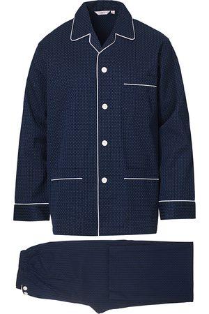 DEREK ROSE Mænd Pyjamas - Royal Piped Cotton Pyjama Set Navy