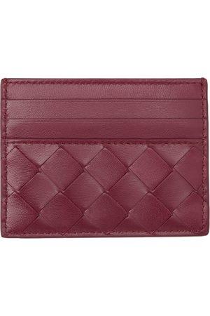 Bottega Veneta Pink Intrecciato Credit Card Holder