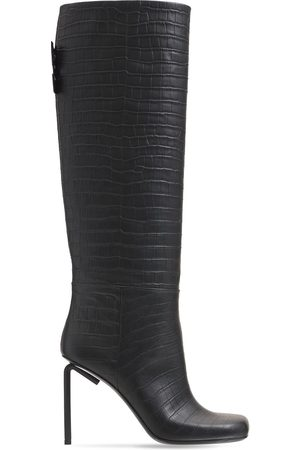 OFF-WHITE 90mm Allen Tall Croc Embossed Boots