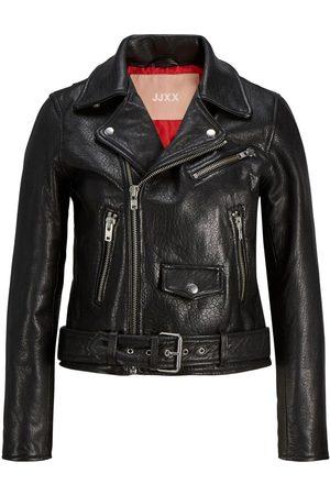 "JACK & JONES Jxholly Leather Bikerjakke Kvinder Black"",""Brown"