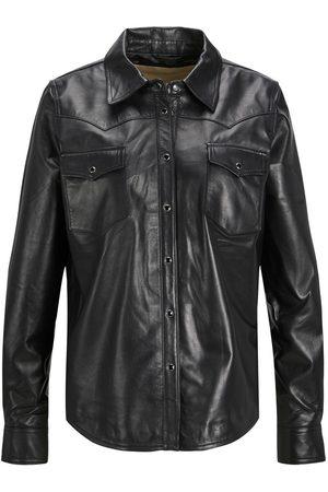 """JACK & JONES Jxjoy Leather Skjorte Kvinder Black"""",""""Brown"""
